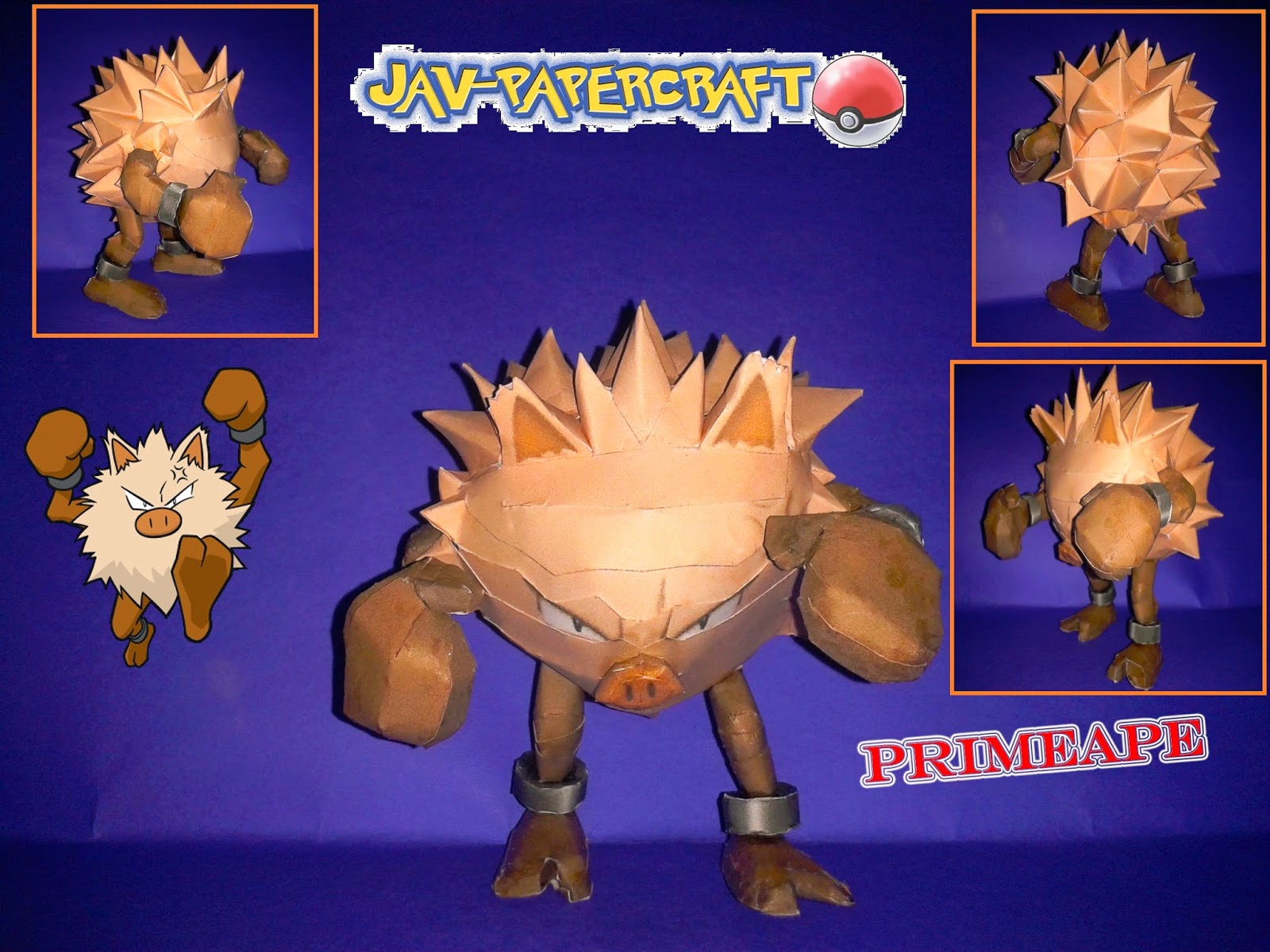 Pokemon Primeape Paper Model