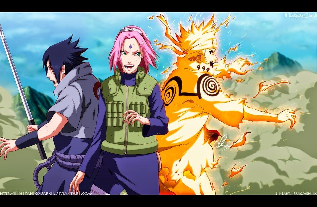 Team 7 Sasuke - Sakura - Naruto