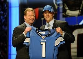 Roger Goddell and Matt Stafford
