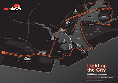 Sundown Marathon 2012 42KM Route Map