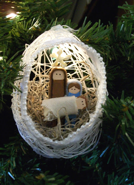 String nativity ornaments 5