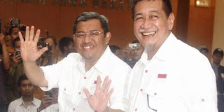 Hasil Pilgub Jabar membuat Ahmad Heryawan - Dedi Miswar