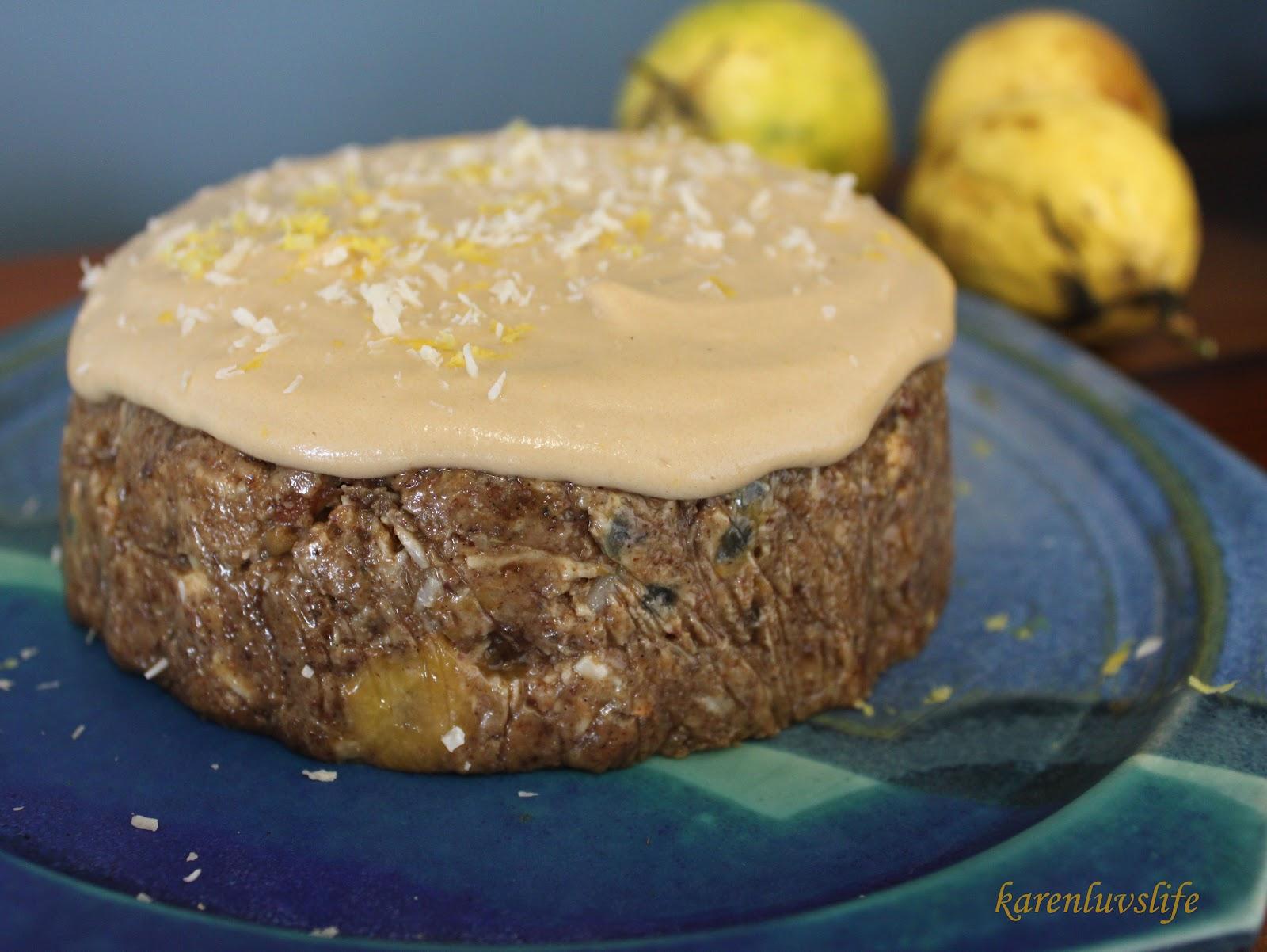 cake banana cake with coconut frosting banana coconut sesame cake ...