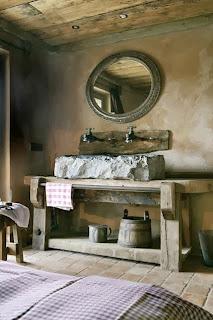 Stone and Wood ian the bathroom