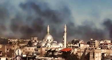 Fuego destrucción Siria
