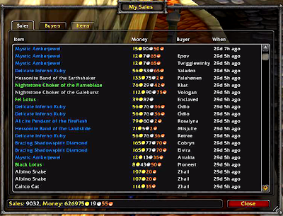 626 How many auctions do you have every day on World of Warcraft?