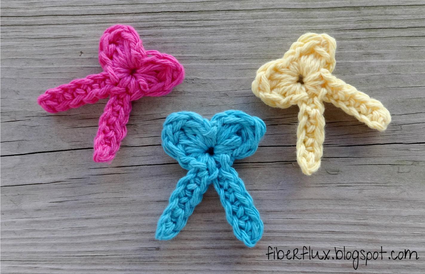 Crochet Bow : Fiber Flux: Free Crochet Pattern...One Round Bows!