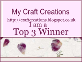 Top 3 Winner with My Craft Creations