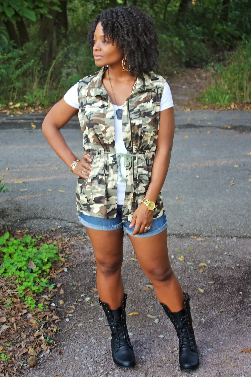 Camouflage & Combat Boots - The Gabe Fix by Gabrielle Flowers