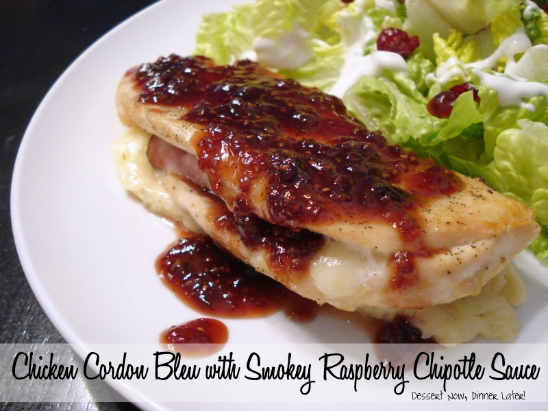 Chicken cordon bleu with smokey raspberry chipotle sauce dessert i love chicken cordon bleu i will take it in pretty much any form crispy chicken cordon bleu roulade chicken cordon bleu casserole or crockpot chicken forumfinder