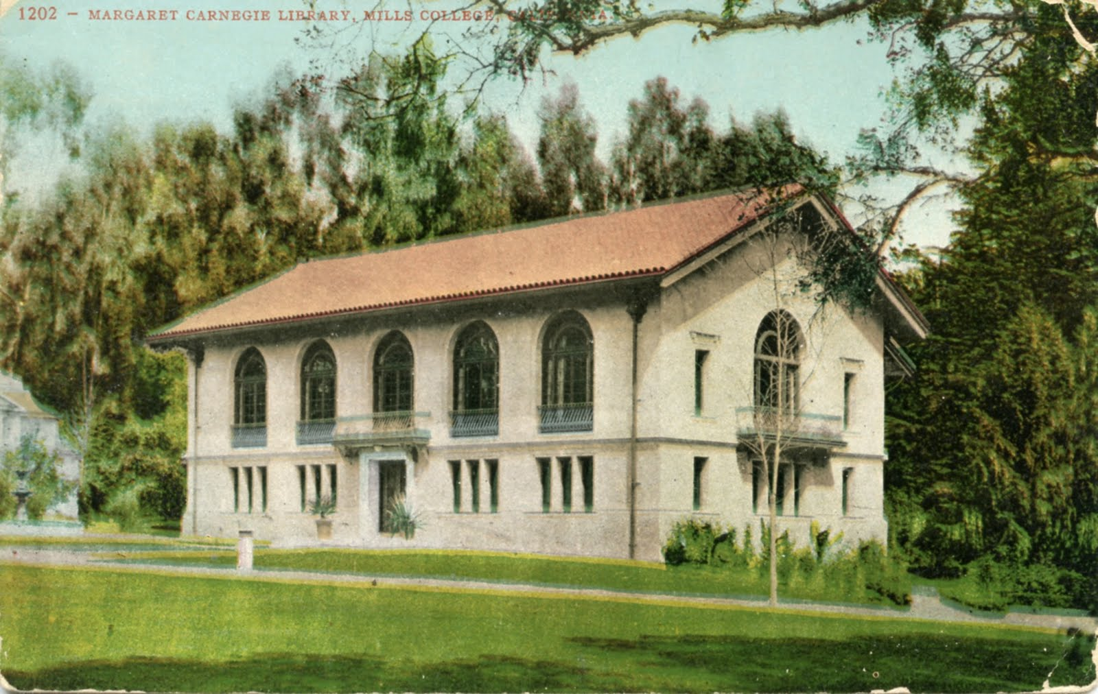 Library Postcards: 1949 Margaret Carnegie Library, Mills College ...