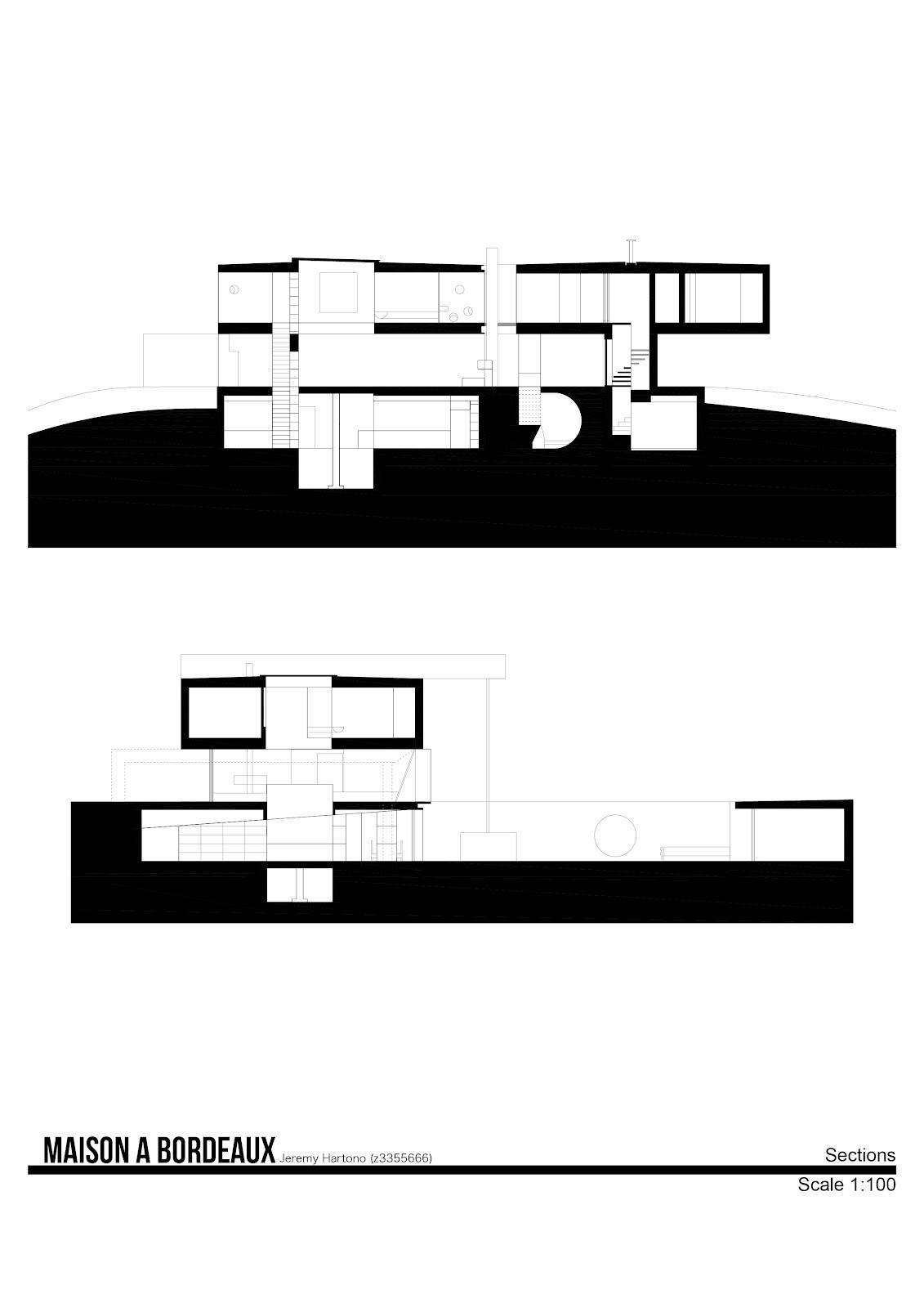 Arch1201 project 1 maison a bordeaux jeremy h unsw for Maison bordeaux