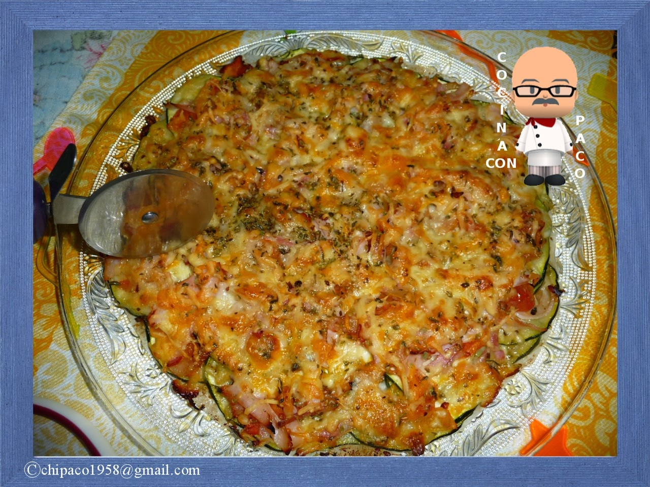 Cocina con paco pizza de calabac n - Cocina con paco ...