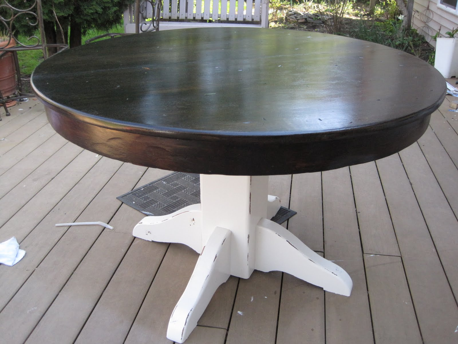 Refinished dining table fabulously flawed for Best html table