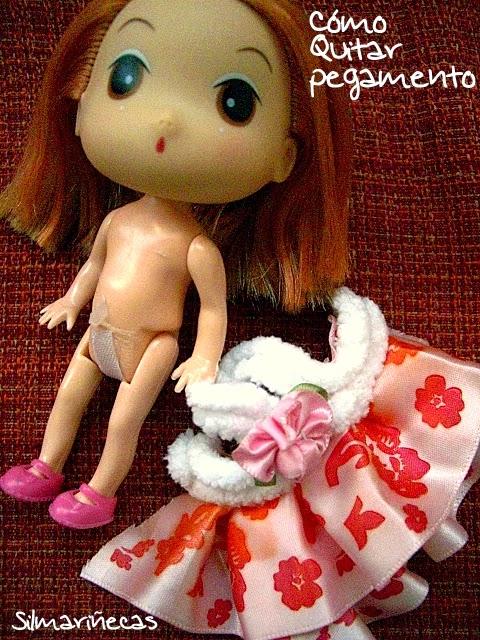 cómo quitar el pegamento del cuerpo de una muñeca