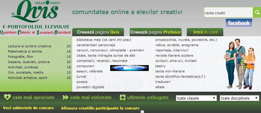 Comunitatea online a elevilor CREATIVI