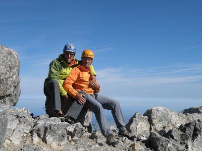 Cumbre de Peña Santa con mi padre. Año 2010