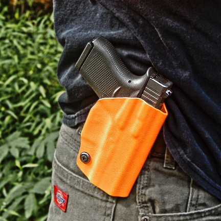 Orange Hunting Holster, hunting holsters, owb holster for hunting, hunting holster, orange hunting holsters, gun holsters for hunting