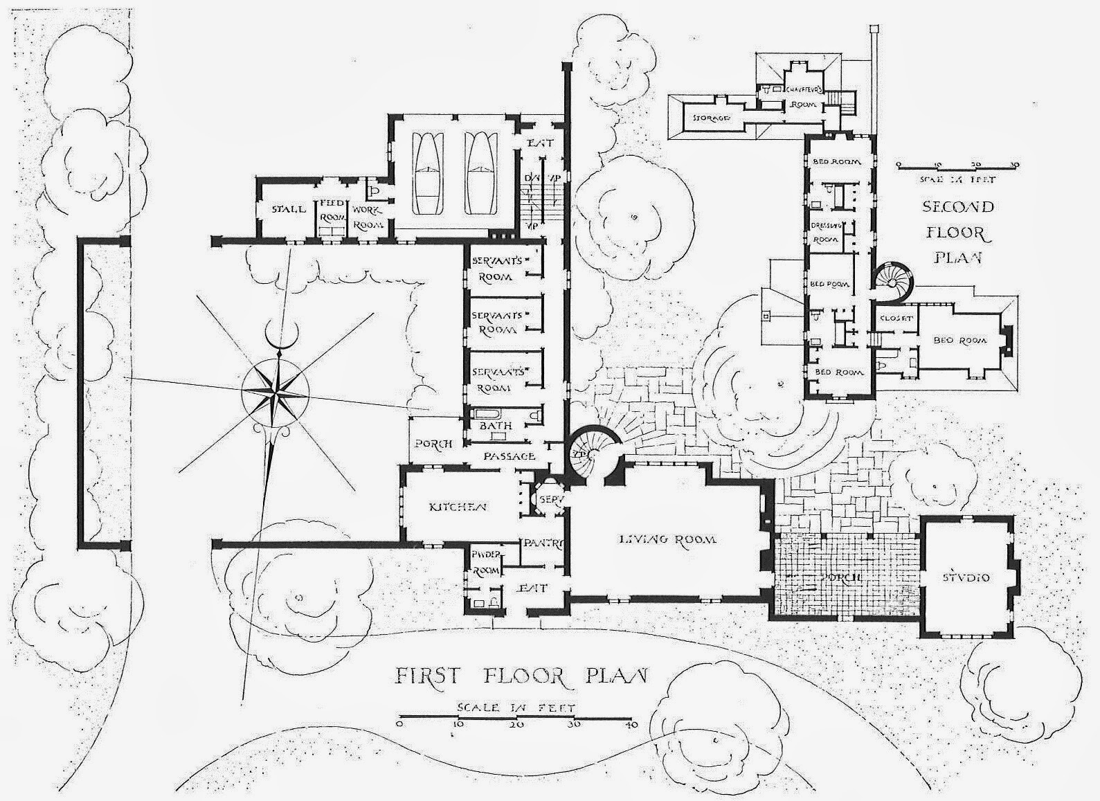 harrison architect designs Photos of Mansions 1920 S if you study the plan you ll notice that the house consists of a rather small entry vestibule and an enormous living room thats all for public space