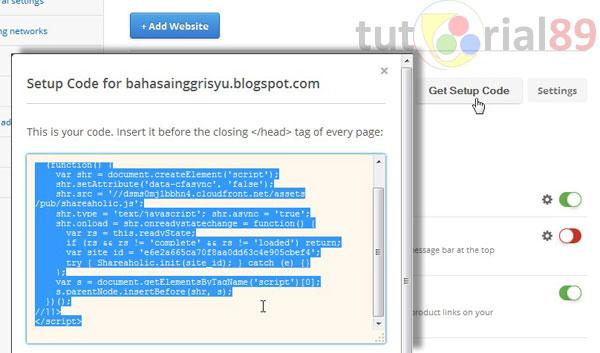Cara membuat tombol share melayang di blog