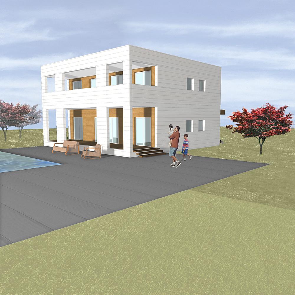 Viviendas modulares por modus vivendi casa minimalista for Viviendas minimalistas pequenas