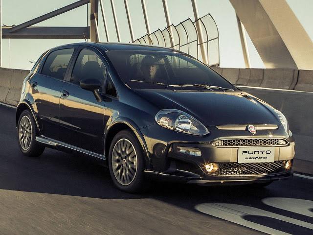novo Fiat Punto Blackmotion 2014 frente preto