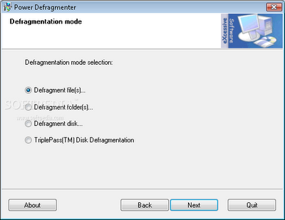 Power Defragmenter | free defrag software