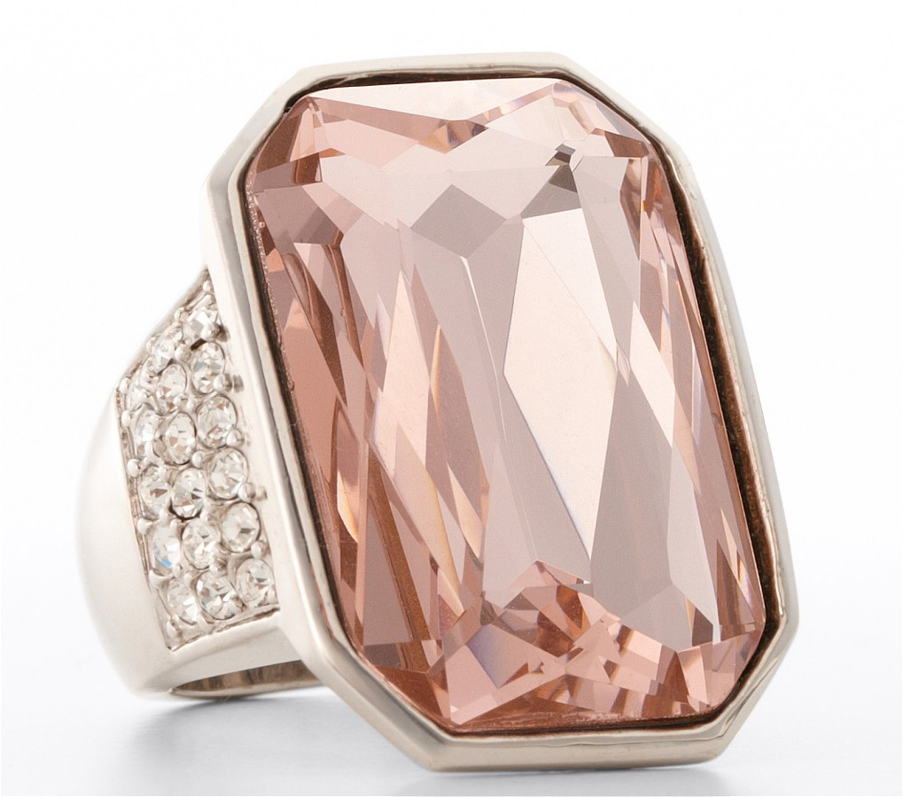 Pink Jewel Breast Cancer Ring