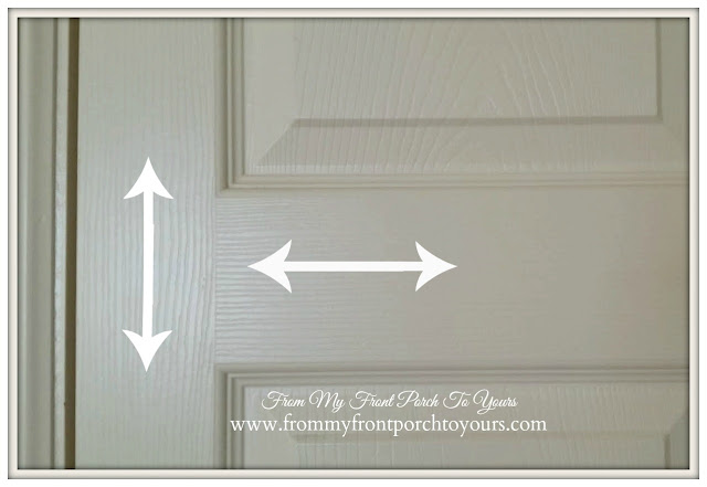 Pay attention the wood grain direction in the door when painting doors-From My Front Porch To Yours.