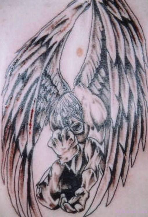 cool ink tattoos designs fallen angel tattoos. Black Bedroom Furniture Sets. Home Design Ideas