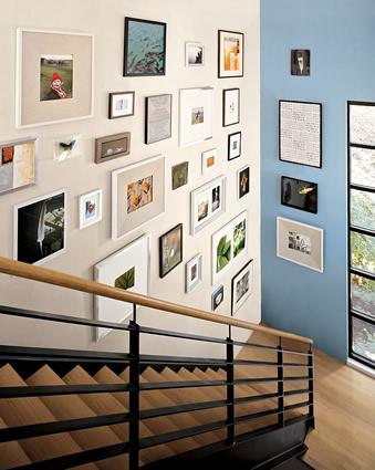 Espacio style cuadros c mo colgarlos - Cuadros para escaleras ...