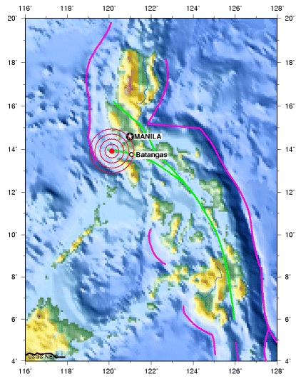 Mindoro, philippines earthquake 2012 august 07