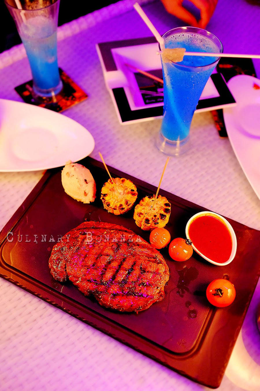 Cowboy Steak - 250 grams of grilled wagyu rib-eye, corn, portobello mushroom and potato-truffle mash