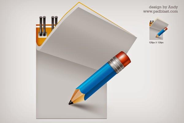 Writing Pad Icon PSD