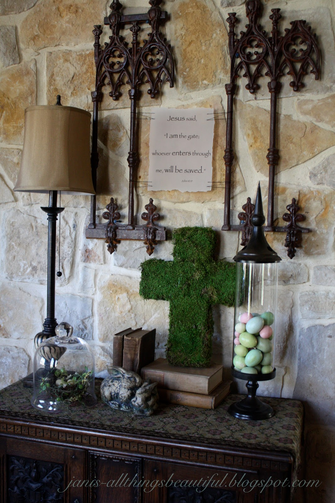 All Things Beautiful Moss Cross Diy Spring Entryway Decor