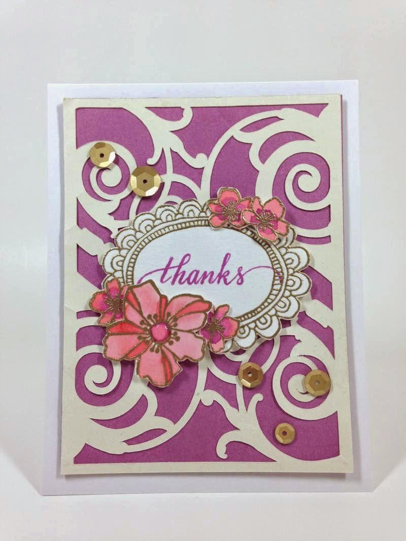 Cricut Watercolor Flower Card