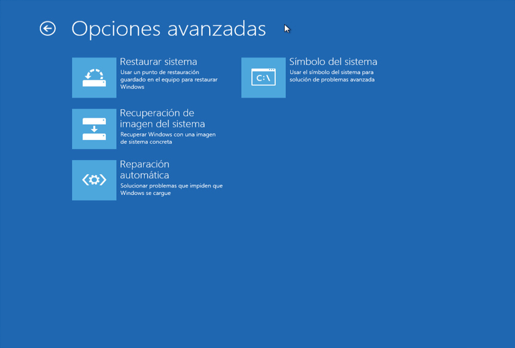 Disco de Reparación para Windows 8