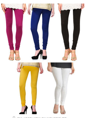 Buy Pack Of 5 Solid Color Cotton Legging from naptol at Rs 599 only