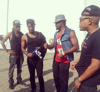 Nigerian Music Stars (PSquare , Naeto c)  in SouthAfrica for Channel O Music Awards