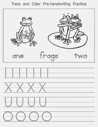 Pre Handwriting Worksheets