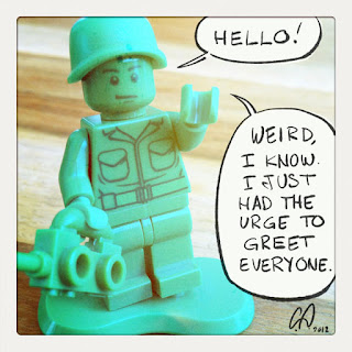 Schultz lego character says hello - by Cesare Asaro