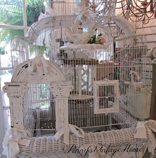 how to display bird cages