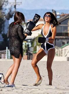 Lucy Mecklenburgh Black Bikini Santa Monica