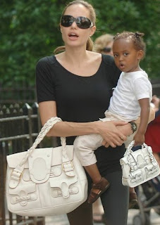 Beautiful jolie with kid