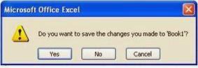 Kotak Dialog Penyimpanan MS Excel