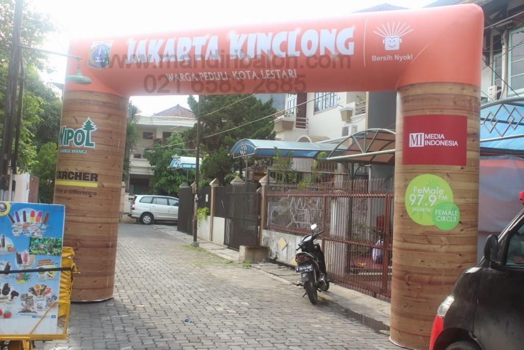 Balon Gapura Jakarta Kinclong