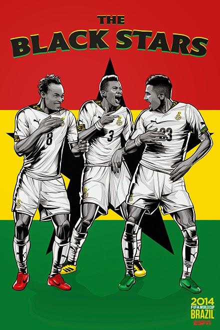 Poster keren world cup 2014 - Ghana