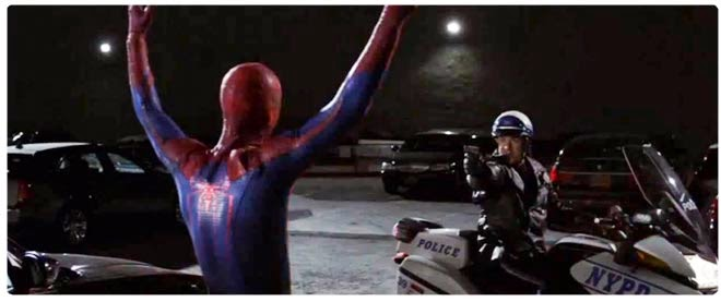 Amazing Spider-Man vs cops