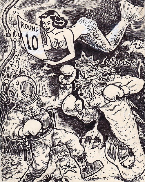Massivefantastic celebrating the world of fantastic art using a vintage do it yourself doodler pad with just an outline to start from artist david jablow has created some of the coolest comic illustrations solutioingenieria Gallery