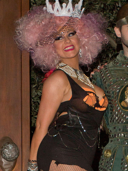 Trashtina dresses down for Halloween | photo courtesy of justjared.com